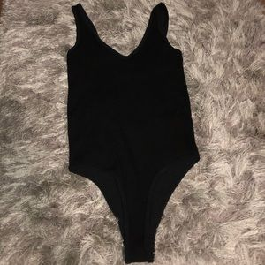 NWOT! Black Ribbed Bodysuit